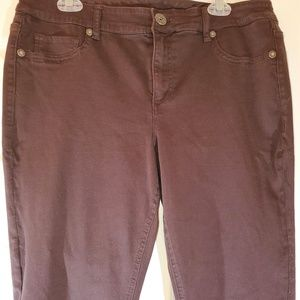 Maurices stretch jeggings size 14 Long Tall Brown